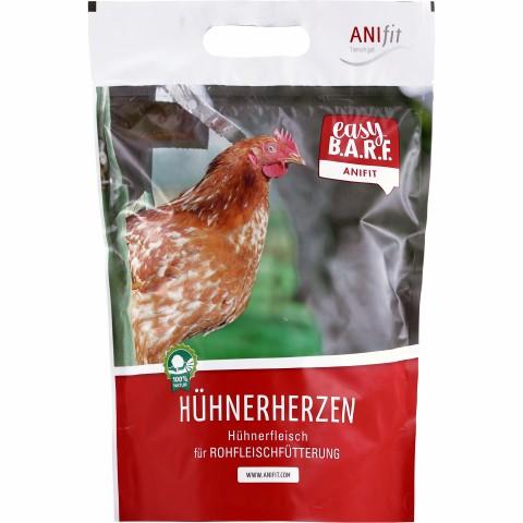Easy Barf Hühnerherzen 400g (1 Stück)